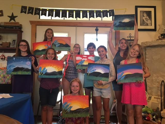 Painting party in san antonio for Wine and paint san antonio